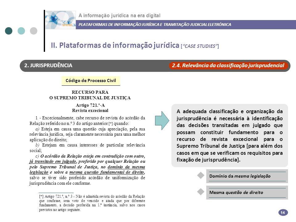 II. Plataformas de informação jurídica [ CASE STUDIES ]